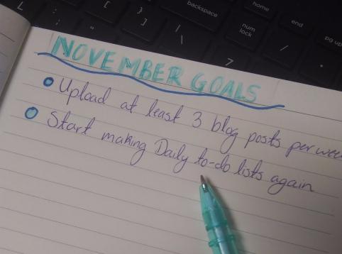 november goals 2